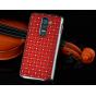 Фирменная роскошная элитная задняя панель-крышка на металлической основе со стразами для LG G2 (D802) тематика..