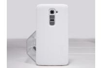Фирменная задняя панель-крышка-накладка из тончайшего и прочного пластика для LG G2 (D802) белая