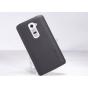 Фирменная задняя панель-крышка-накладка из тончайшего и прочного пластика для LG G2 (D802) черная..