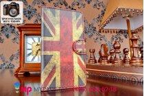 """Фирменный уникальный необычный чехол-книжка для LG G2 (D802) """"тематика британский флаг"""""""