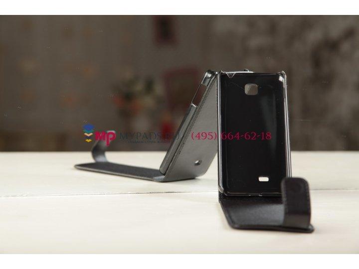 Чехол-книжка для LG Optimus F5 4G LTE P875 черный кожаный..