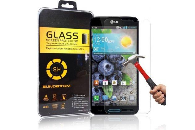 Фирменное защитное закалённое противоударное стекло премиум-класса из качественного японского материала с олеофобным покрытием для LG Optimus G Pro F240
