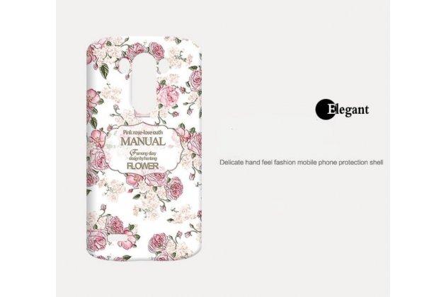 """Фирменная необычная уникальная полимерная мягкая задняя панель-чехол-накладка для LG G3 /G3 Dual LTE D855/D856/D858/F400/F460/D830/VS985 5.46""""  """"с рисунком Розы"""""""