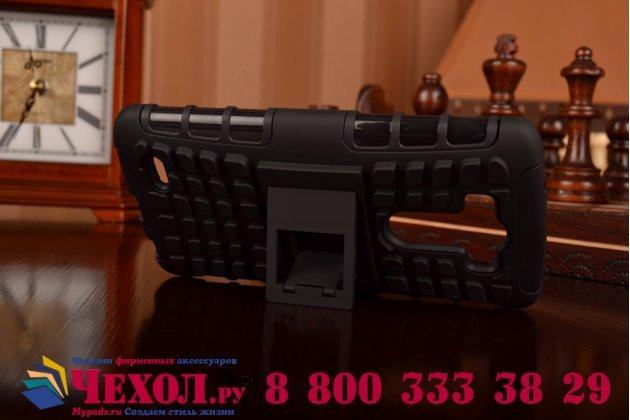 Противоударный усиленный ударопрочный фирменный чехол-бампер-пенал для LG G3 D855 черный