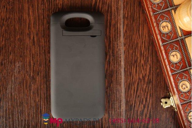 Чехол-бампер со встроенной усиленной мощной батарей-аккумулятором большой повышенной расширенной ёмкости 3800mAh для LG G3 D855 черный + гарантия
