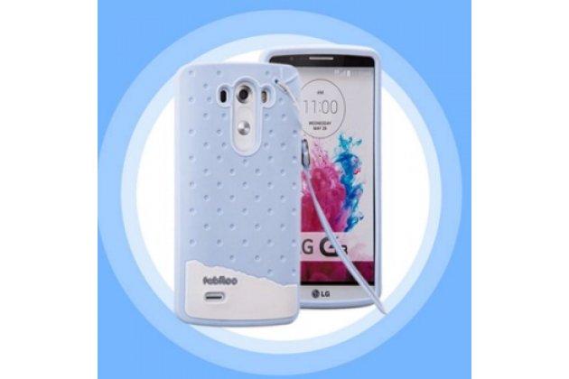 """Фирменная необычная уникальная полимерная мягкая задняя панель-чехол-накладка для LG G3 /G3 Dual LTE D855/D856/D858/F400/F460/D830/VS985 5.46""""  """"тематика Андроид в Черничном  Шоколаде"""""""