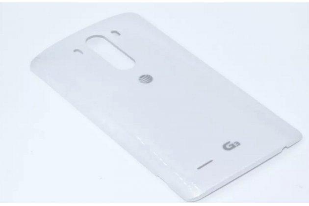 """Родная оригинальная задняя крышка-панель которая шла в комплекте для  LG G3 /G3 Dual LTE D855/D856/D858/F400/F460/D830/VS985 5.46"""" белая"""