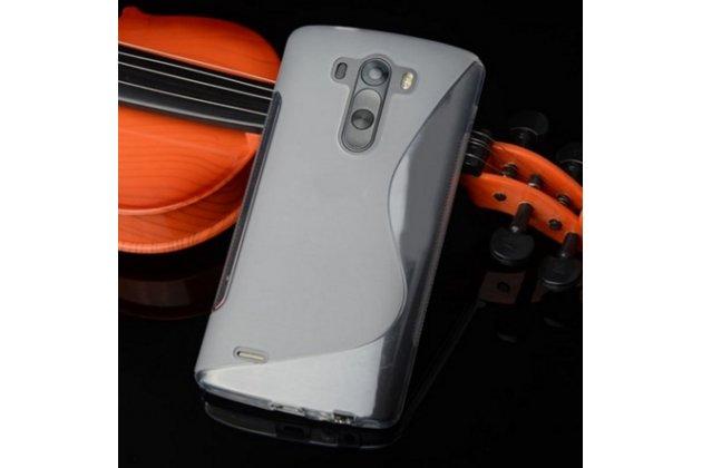 """Фирменная ультра-тонкая полимерная из мягкого качественного силикона задняя панель-чехол-накладка для  LG G3 /G3 Dual LTE D855/D856/D858/F400/F460/D830/VS985 5.46"""" серая"""