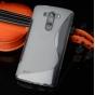Фирменная ультра-тонкая полимерная из мягкого качественного силикона задняя панель-чехол-накладка для  LG G3 /..