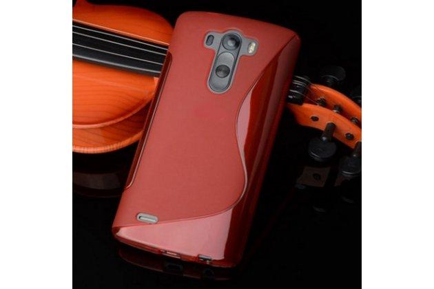 """Фирменная ультра-тонкая полимерная из мягкого качественного силикона задняя панель-чехол-накладка для LG G3 /G3 Dual LTE D855/D856/D858/F400/F460/D830/VS985 5.46"""" красная"""