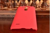 Фирменная задняя панель-крышка-накладка из тончайшего и прочного пластика для LG G3s Mini D724/D722 красная