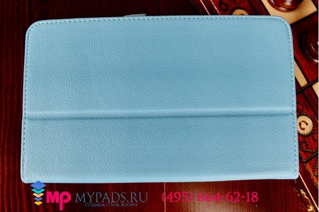 Фирменный чехол для LG G Pad 8.0 V480/V490 голубой кожаный
