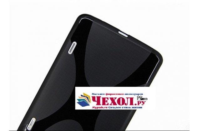 Фирменная ультра-тонкая полимерная из мягкого качественного силикона задняя панель-чехол-накладка для LG G Pad 8.3 V500 черная
