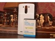 Усиленная батарея-аккумулятор большой ёмкости 7500mAh для телефона LG G3 /G3 Dual LTE D855/D856/D858 + задняя ..