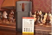 Усиленная батарея-аккумулятор большой ёмкости 7500mAh для телефона LG G3 /G3 Dual LTE D855/D856/D858 + задняя крышка в комплекте черная + гарантия