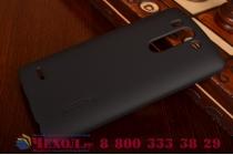 Фирменная задняя панель-крышка-накладка из тончайшего и прочного пластика для LG G3s Mini D724/D722 черная
