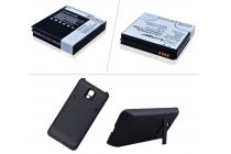 Усиленная батарея-аккумулятор большой ёмкости 2400mAh для телефона LG Optimus 2X + задняя крышка в комплекте черная + гарантия