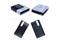 Усиленная батарея-аккумулятор большой ёмкости 2400mAh для телефона LG Optimus 3D P920 + задняя крышка в комплекте черная + гарантия