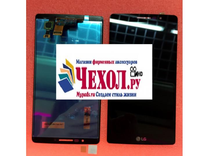 Фирменный LCD-ЖК-сенсорный дисплей-экран-стекло с тачскрином на телефон LG Clas черный + гарантия..