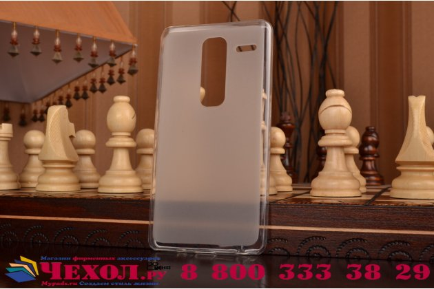 """Фирменная ультра-тонкая полимерная из мягкого качественного силикона задняя панель-чехол-накладка для LG Class H740 /H650E 5.0"""" белая"""