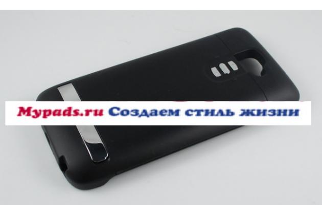 Чехол-бампер  со встроенной усиленной мощной батарей-аккумулятором большой повышенной расширенной ёмкости 3200mAh для LG G2 (D802) черный + гарантия
