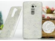 Фирменная роскошная задняя панель-чехол-накладка с расписным узором для LG G2 (D802) прозрачная белая..