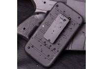 Противоударный усиленный ударопрочный фирменный чехол-бампер-пенал для LG G2 (D802) черный