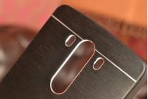 Фирменная металлическая задняя панель-крышка-накладка из тончайшего облегченного авиационного алюминия для LG G3 s Mini D724/D722 черная