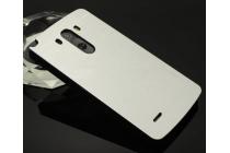 Фирменная металлическая задняя панель-крышка-накладка из тончайшего облегченного авиационного алюминия для LG G3 s Mini D724/D722 серебристая