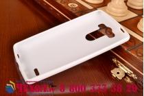 Фирменная ультра-тонкая полимерная из мягкого качественного силикона задняя панель-чехол-накладка для LG G3 s Mini D724/D722 белая