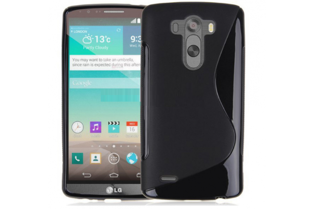 Фирменная ультра-тонкая полимерная из мягкого качественного силикона задняя панель-чехол-накладка для LG G3 s Mini D724/D722 черный
