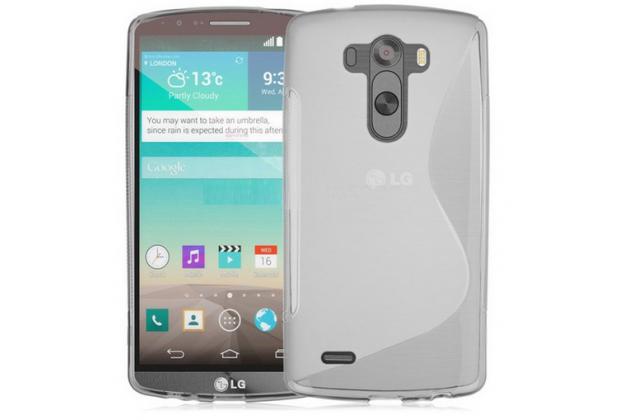 Фирменная ультра-тонкая полимерная из мягкого качественного силикона задняя панель-чехол-накладка для LG G3 s Mini D724/D722 серая