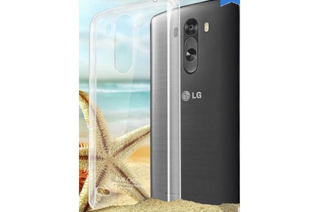 Фирменная задняя панель-крышка-накладка из тончайшего и прочного пластика для LG G3 s Mini D724/D722 прозрачная