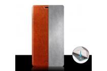 Фирменный чехол-книжка из качественной водоотталкивающей импортной кожи на жёсткой металлической основе для LG G3 Mini черный