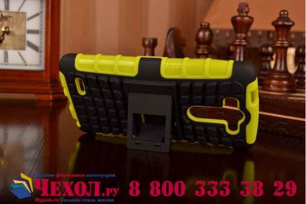 Противоударный усиленный ударопрочный фирменный чехол-бампер-пенал для LG G3 s Mini D724/D722 зеленый