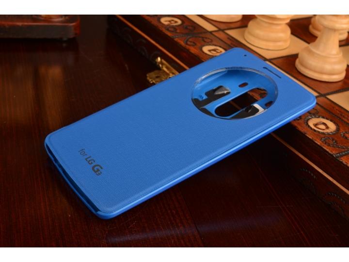 Фирменный оригинальный чехол-кейс из импортной кожи Quick Circle для LG G3 /G3 Dual LTE D855/D856/D858/F400/F4..