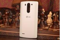 Родная оригинальная задняя крышка-панель которая шла в комплекте для LG G3 s Mini D724/D722 белая