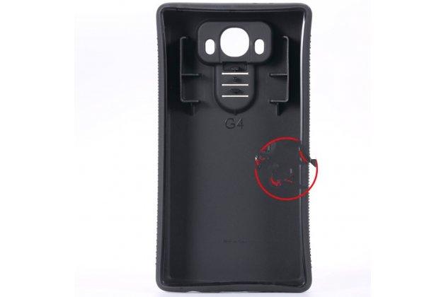 Усиленная батарея-аккумулятор большой повышенной ёмкости 8200 mAh для телефона LG G4 H815 / H818 + задняя крышка черная + гарантия
