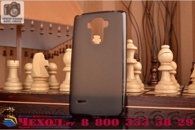 Фирменная ультра-тонкая полимерная из мягкого качественного силикона задняя панель-чехол-накладка для  LG G4 Stylus H540F / H635A / LS770 черная