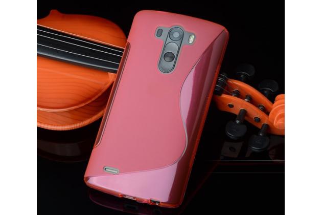 Фирменная ультра-тонкая полимерная из мягкого качественного силикона задняя панель-чехол-накладка для LG G4 Stylus H540F / H635A / LS770 красная