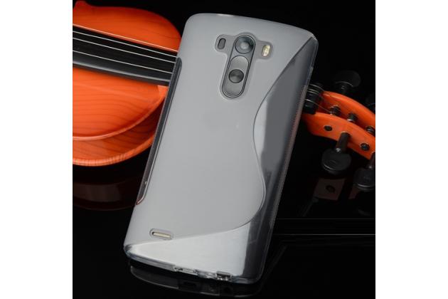 Фирменная ультра-тонкая полимерная из мягкого качественного силикона задняя панель-чехол-накладка для LG G4 Stylus H540F / H635A / LS770 серый
