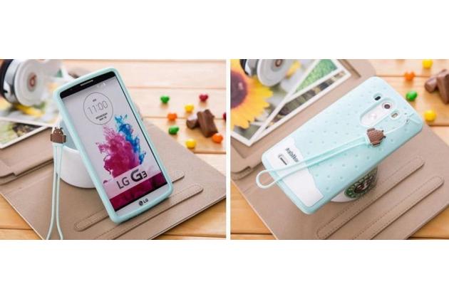 """Фирменная необычная уникальная полимерная мягкая задняя панель-чехол-накладка для LG G4 Stylus H540F / H635A / LS770 """"тематика Андроид в Мятном  Шоколаде"""""""