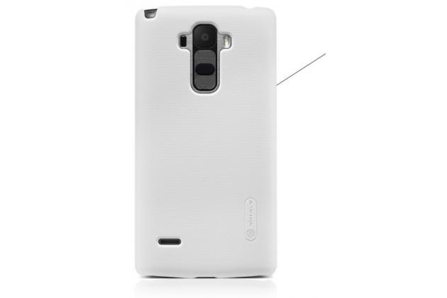 Фирменная задняя панель-крышка-накладка из тончайшего и прочного пластика для LG G4 Stylus H540F / H635A / LS770 белая