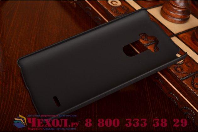 Фирменная задняя панель-крышка-накладка из тончайшего и прочного пластика для LG G4 Stylus H540F / H635A / LS770 черная