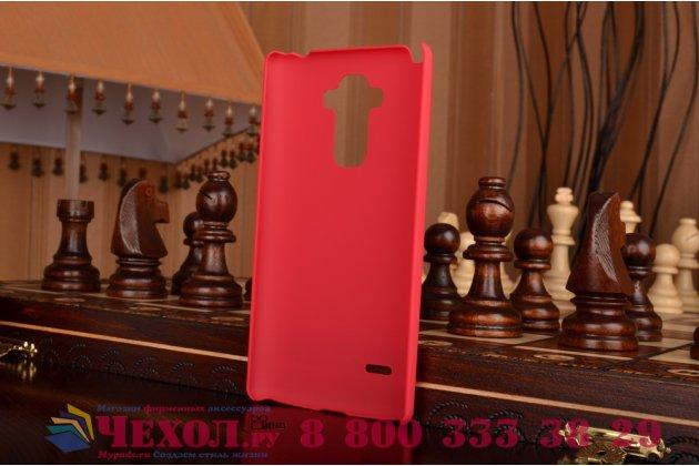 Фирменная задняя панель-крышка-накладка из тончайшего и прочного пластика для LG G4 Stylus H540F / H635A / LS770 красная
