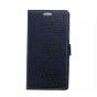 Фирменный чехол-книжка с подставкой для LG G4 Stylus H540F / H635A / LS770 лаковая кожа крокодила цвет фиолето..