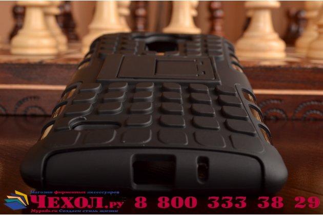 Противоударный усиленный ударопрочный фирменный чехол-бампер-пенал для LG G4 Stylus H540F / H635A / LS770 черный