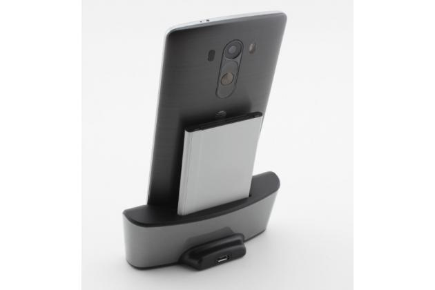 Фирменная многофункциональная беспроводная док станция 3000 mAh с зарядкой дополнительной батареи для телефона LG G4 H815 / H818 / G4 Note
