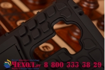 Противоударный усиленный ударопрочный фирменный чехол-бампер-пенал для LG G4 черный