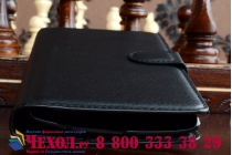 Фирменный чехол-книжка из качественной импортной кожи с мульти-подставкой застёжкой и визитницей для LG G4 черный